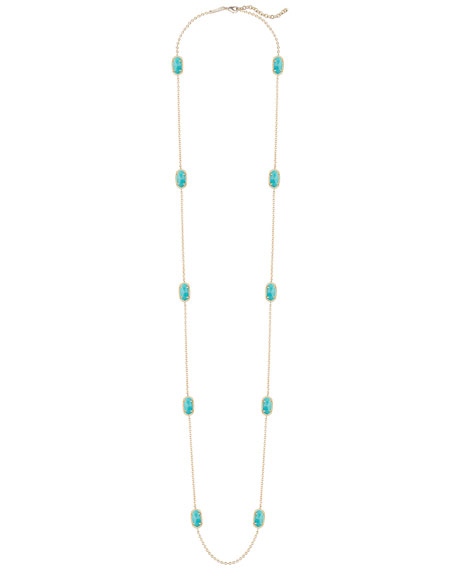 Kellie Long Necklace, Turquoise