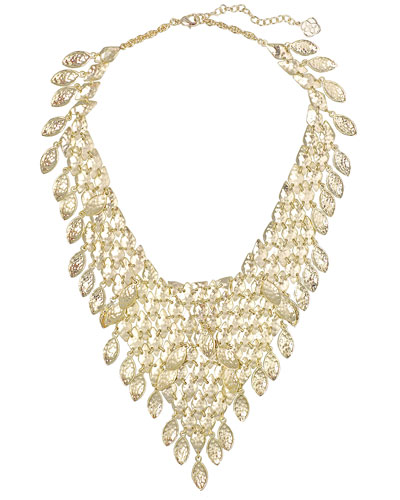 Tanay Statement Necklace, Gold Plate