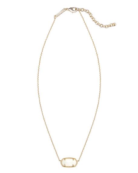 Elisa Pendant Necklace, White