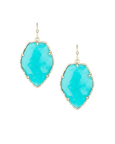 Corley Earrings, Turquoise