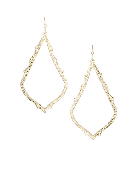 Sophee Earrings, Gold Plate
