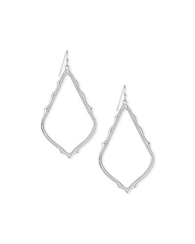 Sophee Earrings, Rhodium Plate