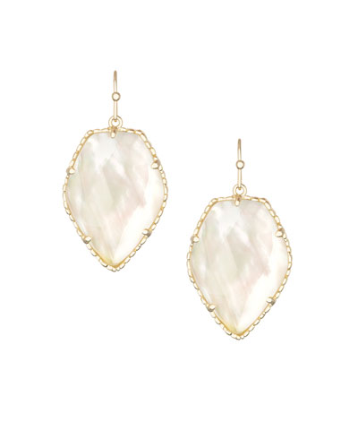 Corley Earrings, Pearlescent