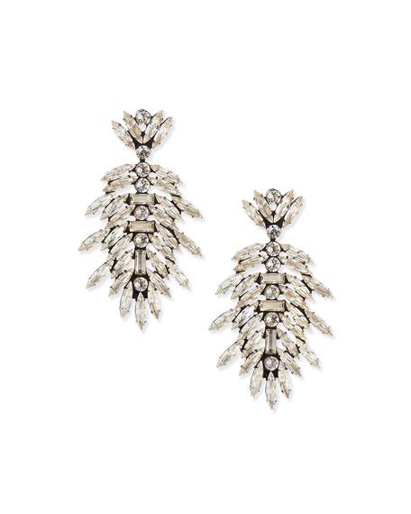 Dannijo Leigh Crystal Drop Earrings