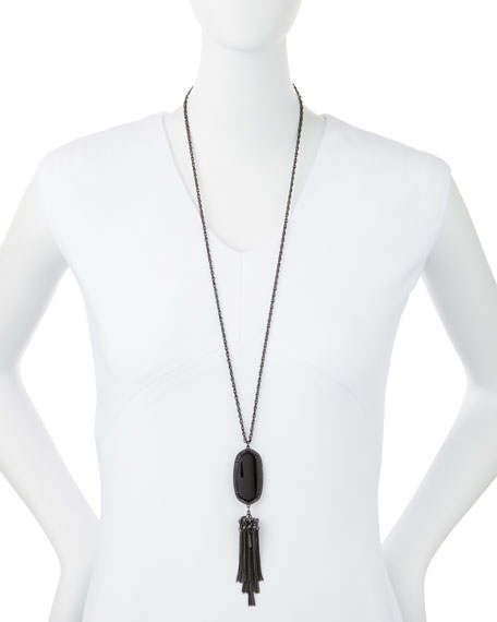 Rayne Pendant Necklace, Black