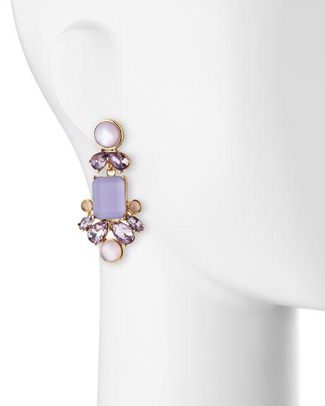 glitzy spritz statement earrings
