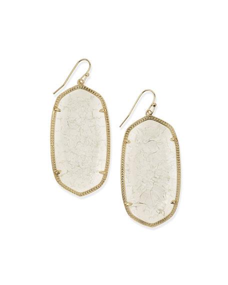 Danielle Earrings, Crackle Crystal