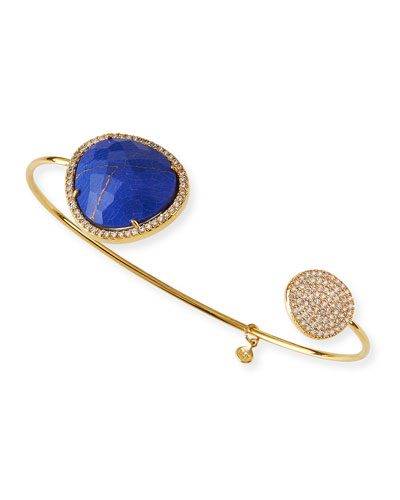 Lapis & Crystal Pinch Bracelet