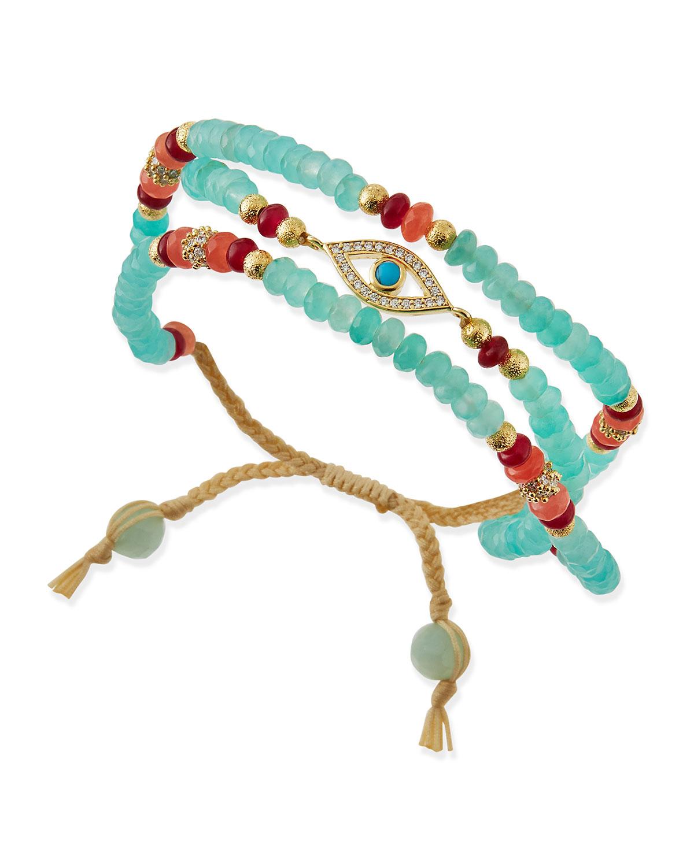 Multi Strand Evil Eye Bracelet