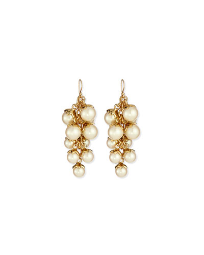 petaled faux-pearl earrings