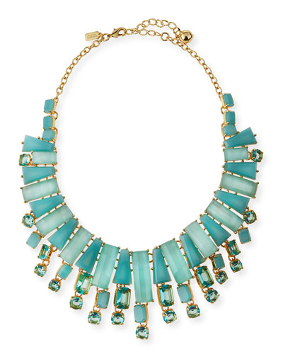 beach statement necklace, aqua