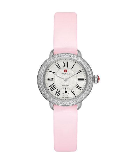 12mm Tech Satin Watch Strap, Pastel Pink