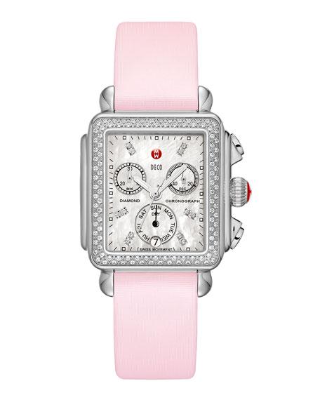 16mm Tech Satin Watch Strap, Pastel Pink