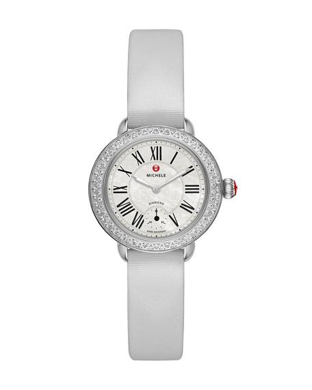 12mm Tech Satin Watch Strap, Silver