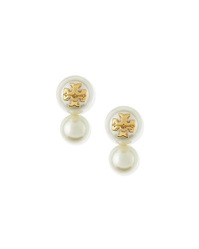 Evie Double-Pearly Stud Earrings