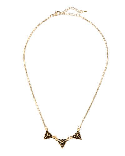 Triple Pyramid Crystal Necklace