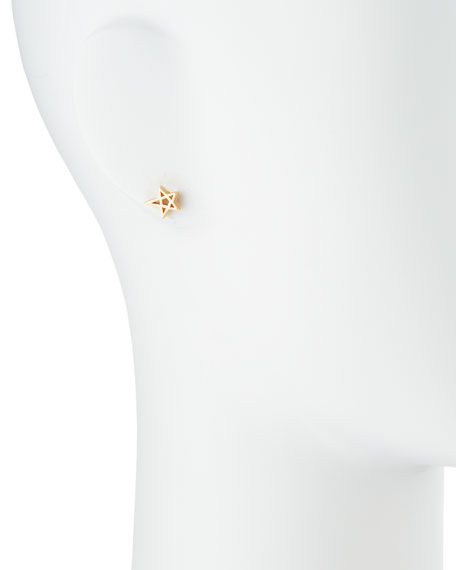 Matte Mini Star Stud Earrings