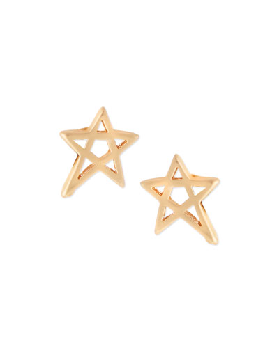 Matte Mini Star Stud Earrings
