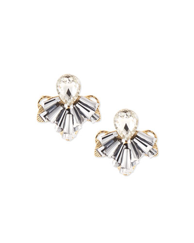 Clustered Crystal Stud Earrings