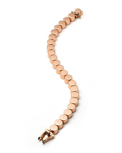 Rose Gold-Plated Medium Cylinder Bracelet