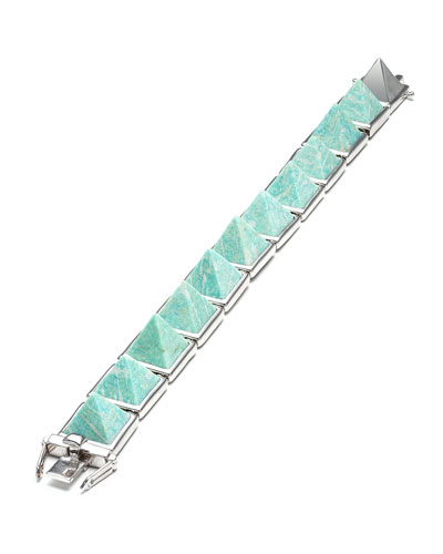Amazonite Pyramid Bracelet