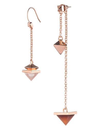 Pyramid Pendulum Drop Earrings