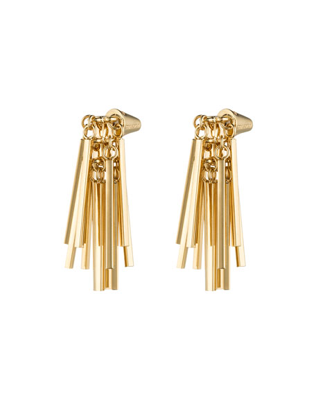 Gold-Plated Fringe Earrings