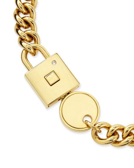 Lock-In Golden Statement Necklace
