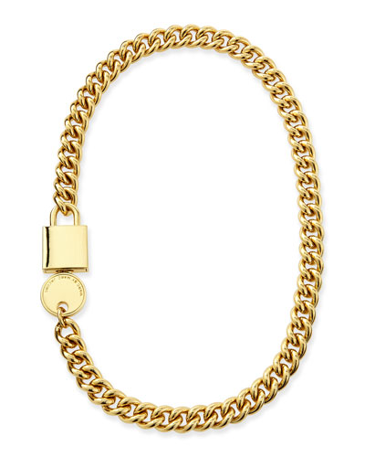 Lock-In Golden Statement Necklace