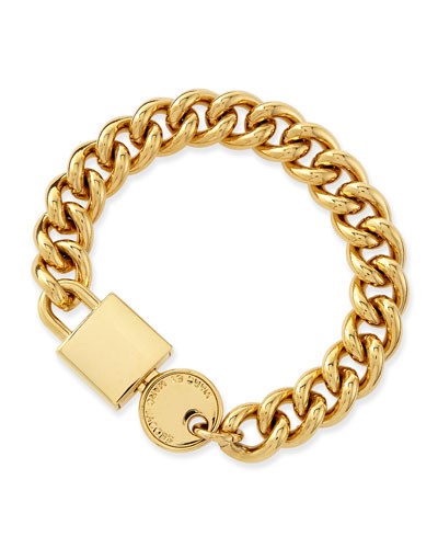 Lock-In Golden Statement Bracelet