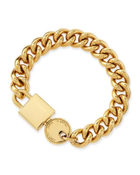 Lock-In Golden Statement Bracelet