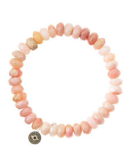 Sydney Evan Pink Opal Rondelle Beaded Bracelet with