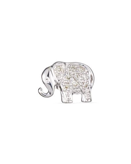 Sydney Evan Elephant Diamond Single Stud Earring