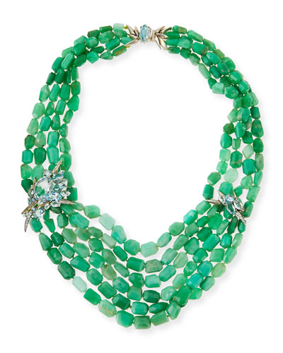 Chrysoprase Torsade Beaded Necklace