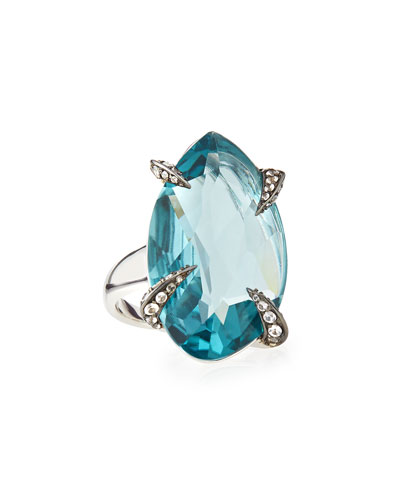 Marquis Fancy-Cut Sky Quartz Ring