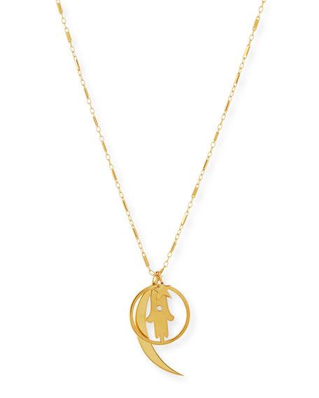 Jennifer Zeuner Cherie Gold Vermeil Long Charm Necklace
