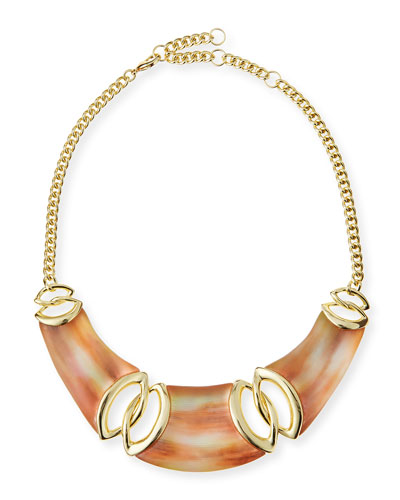 Lucite Interlocking Bib Necklace