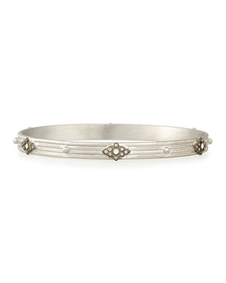 New World Champagne Diamond Scroll Bangle