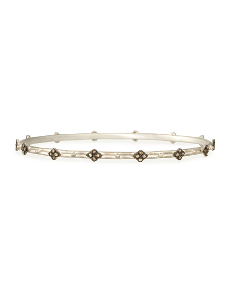 Armenta Champagne Diamond Cravelli Silver Bangle
