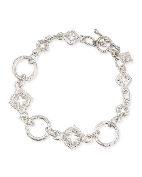 New World Sculpted Diamond Link Bracelet