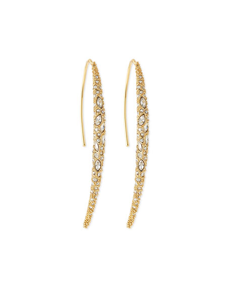 Alexis Bittar Miss Havisham Crystal Spear Earrings