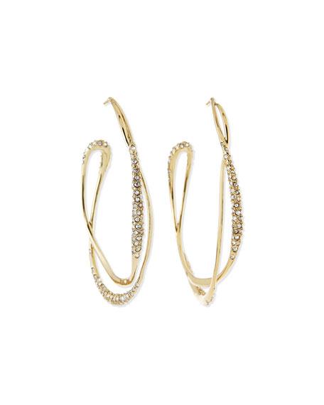 Orbiting Crystal Hoop Earrings