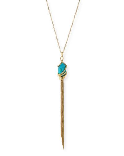 Turquoise Howlite Tassel Necklace