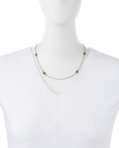 New World Crivelli-Station Necklace with Champagne Diamonds