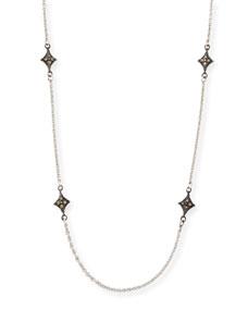 Armenta New World Crivelli-Station Necklace with Champagne Diamonds nUz0ETFv