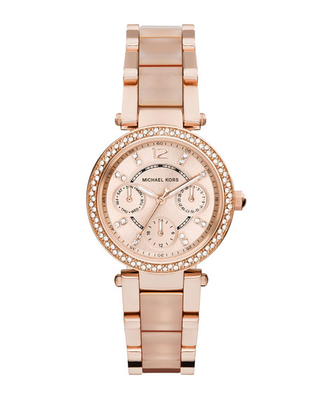Michael Kors Mini Parker Rose Golden Stainless Steel