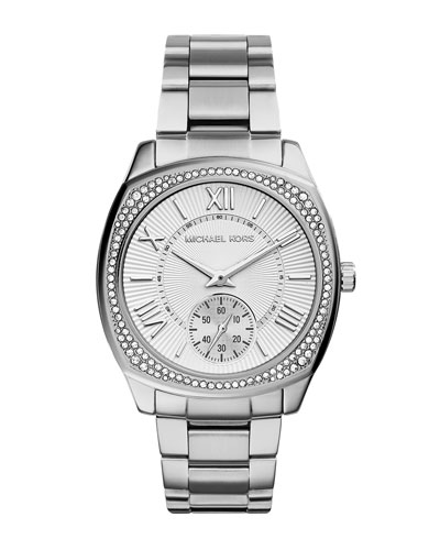 Bryn Stainless Steel Glitz Watch