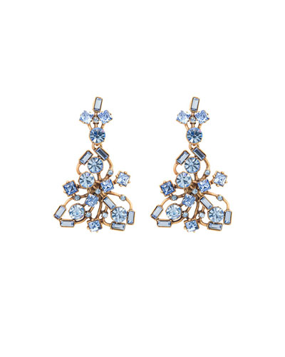 Crystal Firework Drop Earrings