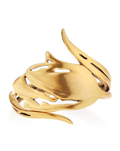 Delicate Golden Tulip Bracelet