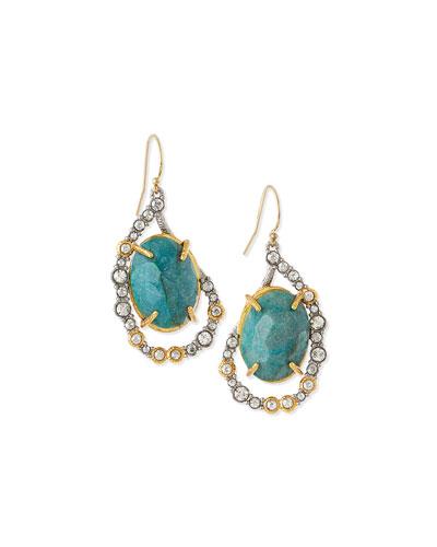 Elements Chrysocolla Drop Earrings, Green
